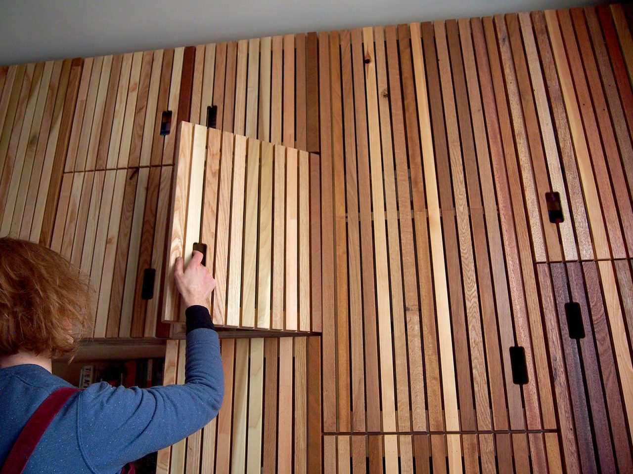 Batten Storage Wall
